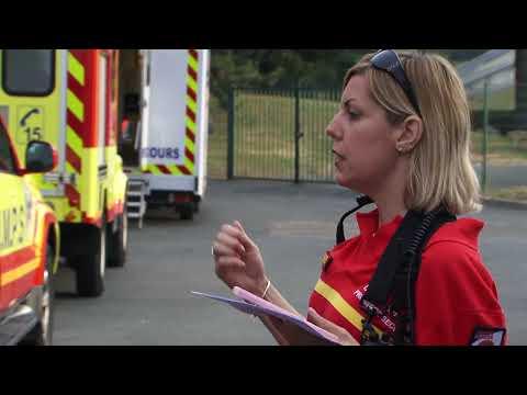 Poste de secours du championnat de France d'athlétisme cadets juniors 2018