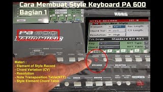 Video TUTORIAL CARA MEMBUAT STYLE KEYBOARD KORG PA 600 ! Pelan dan Mudah download MP3, 3GP, MP4, WEBM, AVI, FLV September 2018