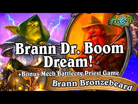 Brann Bronzebeard Dr Boom Dream ~ Hearthstone The League Of Explorers