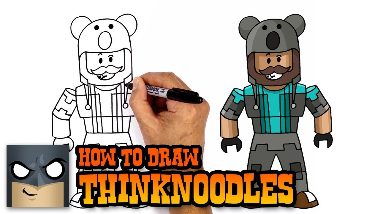 How To Draw Thinknoodles Roblox Youtube