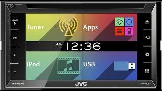 Обзор JVC KW V320BT в автомобиле