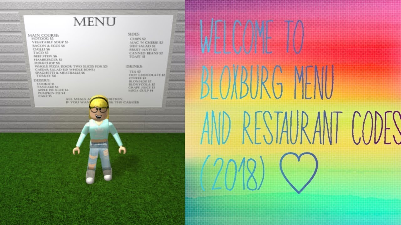 Cafe Bloxburg Codes 2018 Youtube