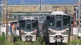 JR和歌山線 隅田駅の227系1000番台 JR Wakayama Line Suda Station (2019.7)