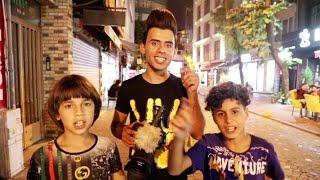 جولة في شوارع تركيا مع انور المحبوب والاطفال | كرار الساعدي