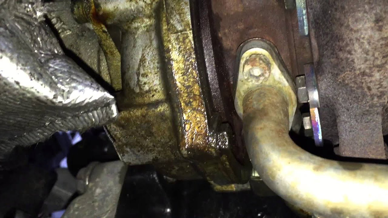 VW 1.8T Turbo oil leak underside - YouTube