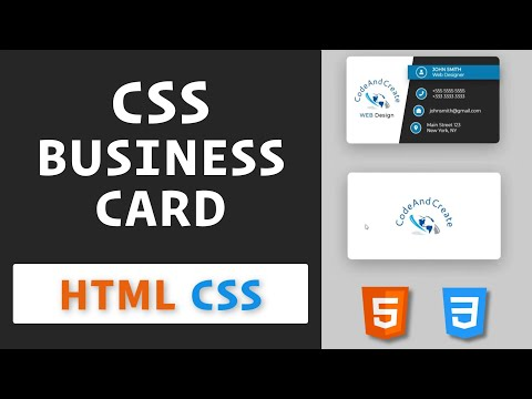 3D Business Card Using HTML And CSS / How To Create 3D Business Card