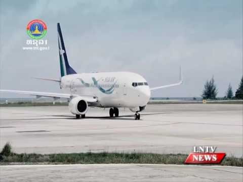 Lao NEWS on LNTV: SilkAir, Airbus A320 aircraft begins direct flights to Laos.2/11/2016