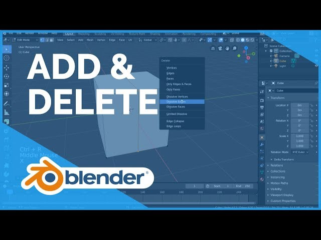 Add & Delete - Blender 2.80 Fundamentals