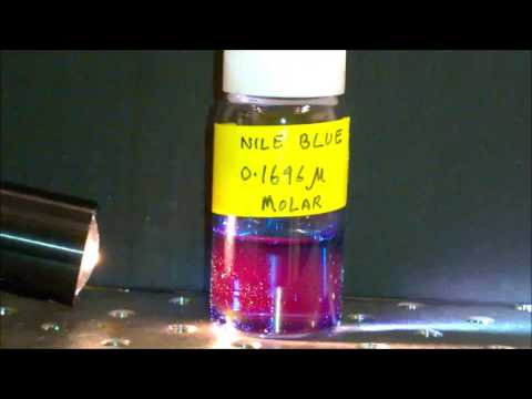 A Demonstration of Fluorescence in Nile Blue Dye