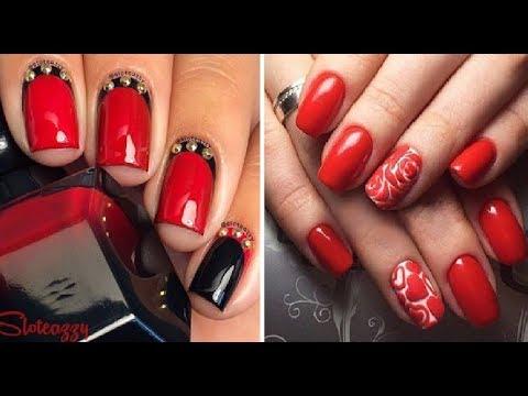 Маникюр на короткие ногти красного цвета фото
