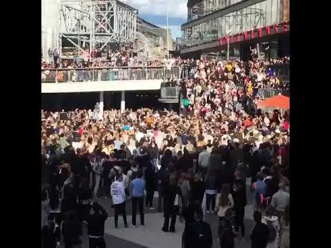 Swedes gather for Avicii tribute in Sergels Torg, Stockholm