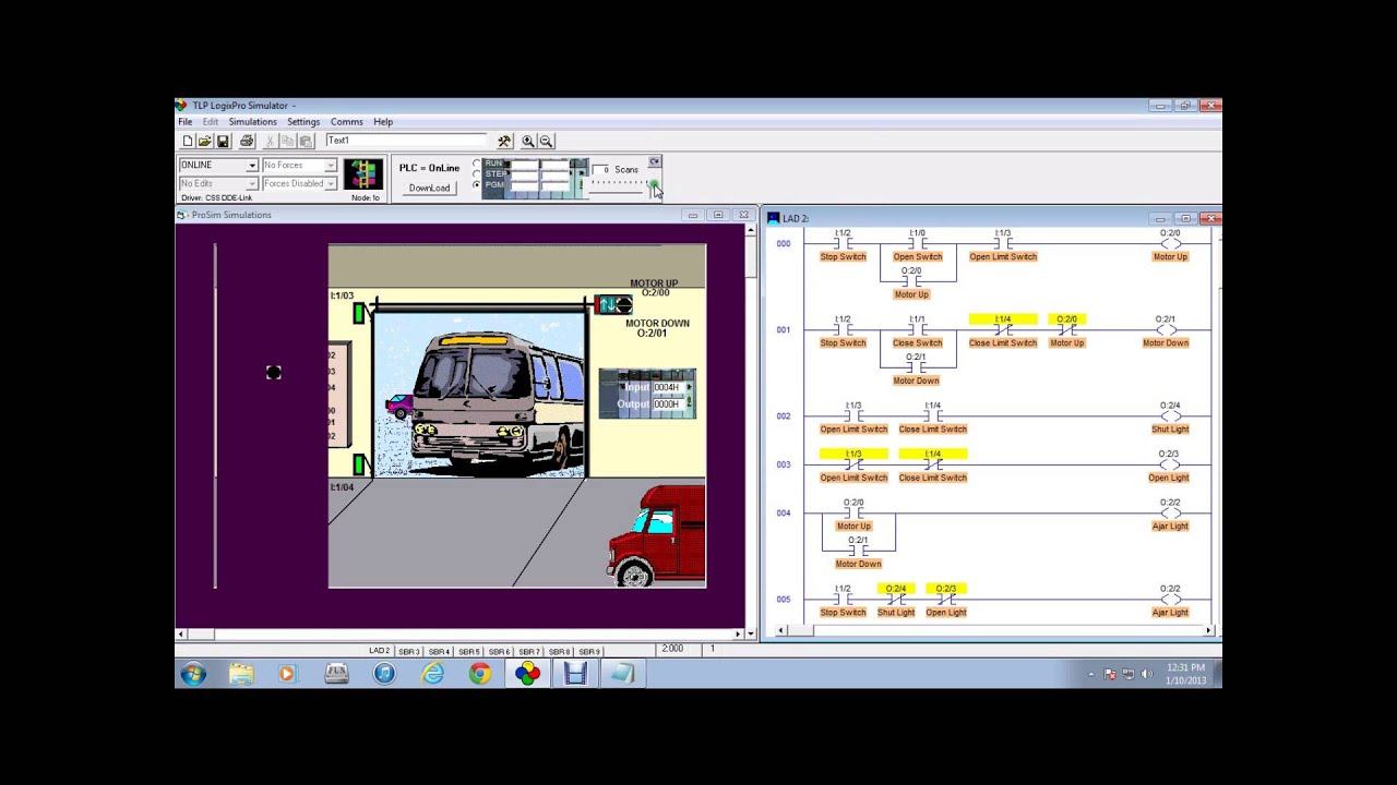Door Simulation For Logix Pro 500 Youtube