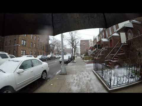 ⁴ᴷ Walking to work in NYC during 2018 Nor'easter Storm Skylar from Astoria to Long Island City