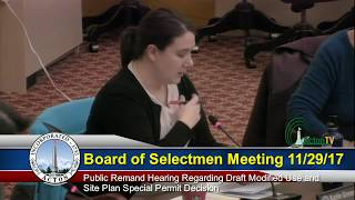 Special Board of Selectmen 11 29 2017
