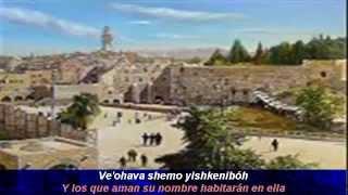 Ki Elokim  Porque Elohim salvar  a Tzion (Tehillim 69 36-37) Mordechai Ben David Por Siempre Israel