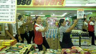 dancing employees of Puregold St. Francis
