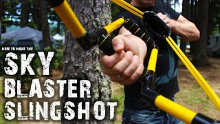 How To Make The Skyblaster Slingshot(Here's how to make a powerful water balloon slingshot, that launches water bombs from over 150 feet away. Some quick links to a few of the materials I used: ..., 2015-07-23T15:17:23.000Z)