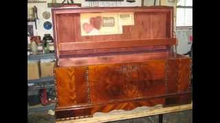Restoration- Old Cedar Chest -shellac Natural Finish-madadar,naples Fl