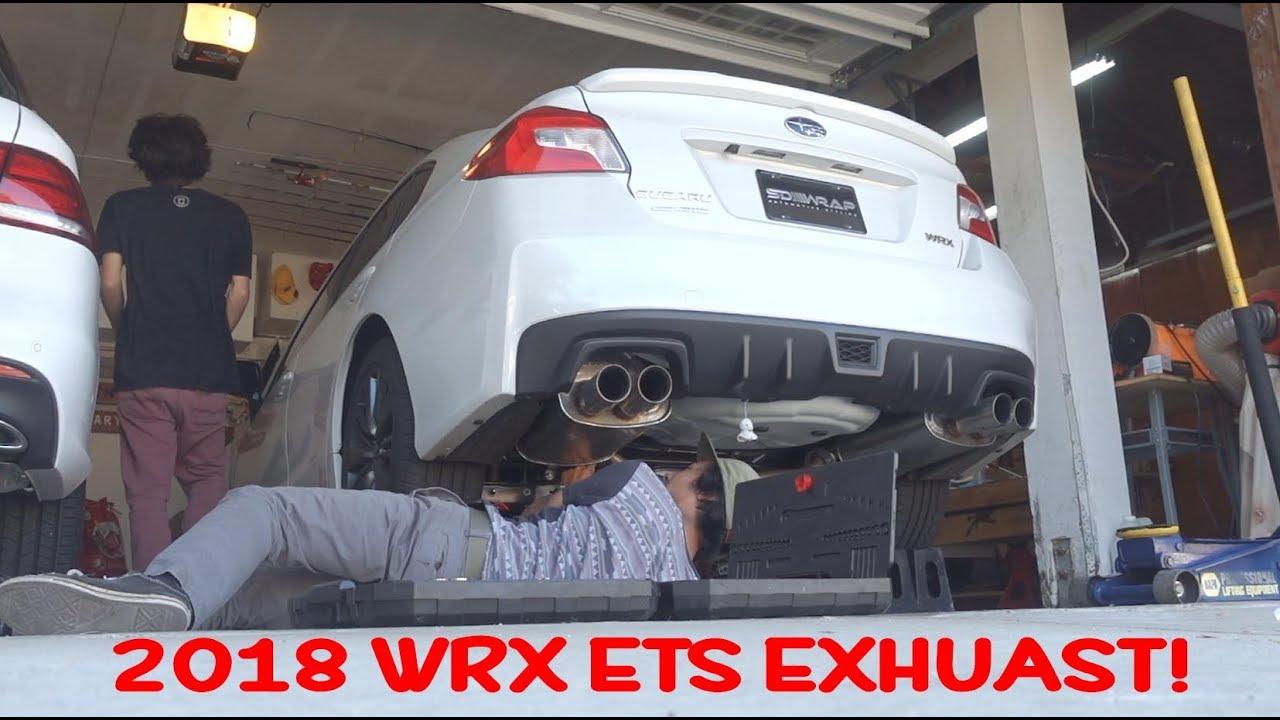 2018 subaru wrx ets catback exhaust install rev flybys