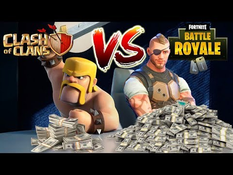 How Much Money Does Clash Of Clans & Fortnite Make A Day? A Year? | Fortnite Vs. Clash Of Clans