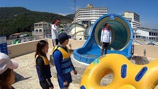 Giant Water Slide at The Ocean Waterpark