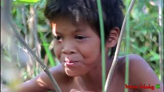 Primitive Technology - Eating delicious - Awesome cooking pork cow on a rock