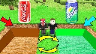 KOLA ÇUKURU VS GAZOZ ÇUKURU (HANGİSİNİ SEÇİCEM) 😱 - Minecraft