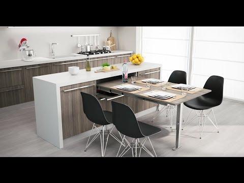 Cucina Tavolo A Scomparsa.Filograno Arredi La Cucina Del Futuro 3 Youtube