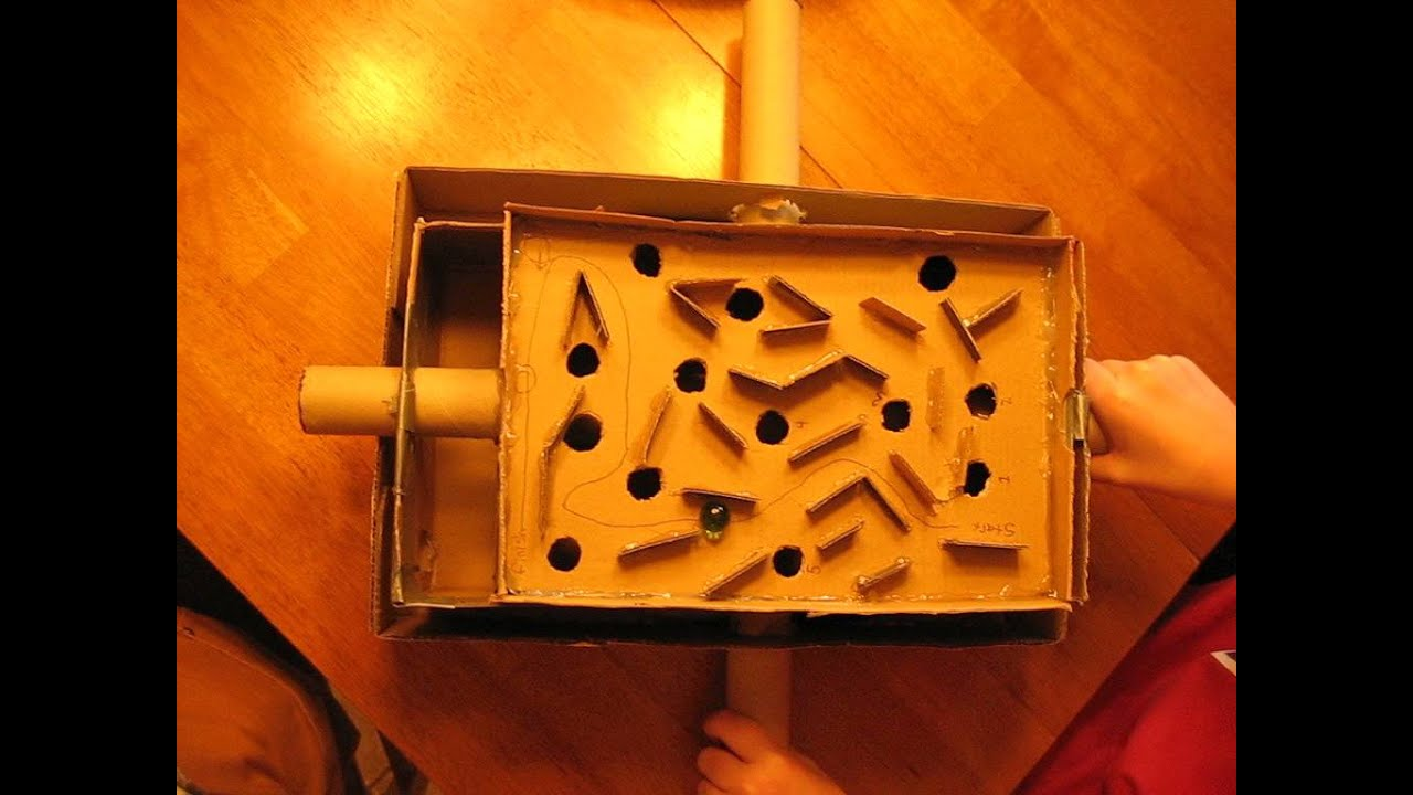 Home Made Marble Maze Youtube