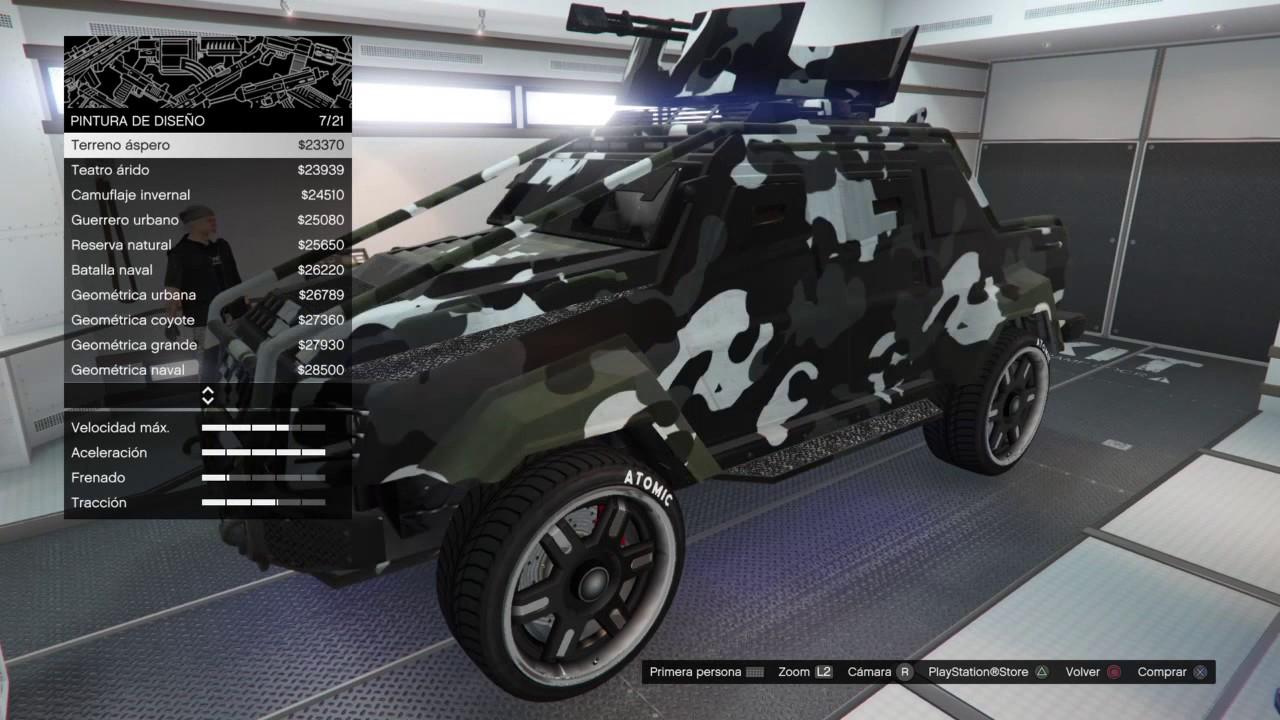 GTA 5 Online | Tuneando la camioneta insurgent con torreta ...