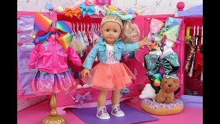 American Girl Doll JoJo Siwa Twin Dolls Slumber Party with Bunk Beds! Sleepover fun with dress up