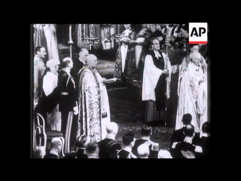 Wedding of the Duke of Kent (Prince George) To Princess Marina - 1934