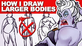 How-to DRAW Characters with Weight on their Bones | U is for Ursula | drawingwiffwaffles