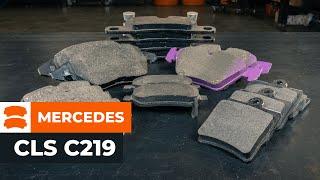 Как се сменят Предни спирачни накладки на MERCEDES-BENZ CLS C219 урок | Autodoc