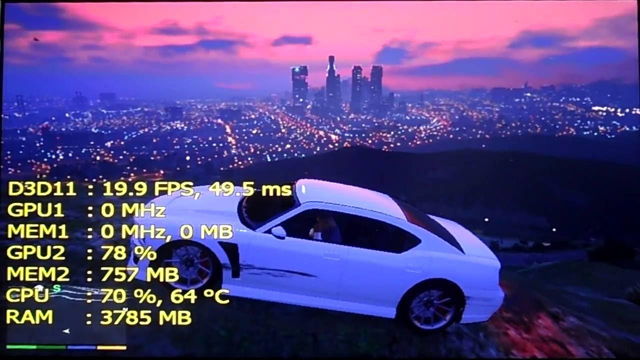 Lenovo IdeaPad: i3 5020U - HD Graphics 5500 | Gaming test #4: GTA V/5