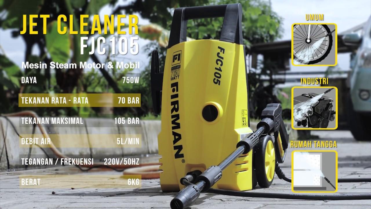 Mesin Cuci Motor Dan Mobil Firman Jet Cleaner Fjc 105 Youtube