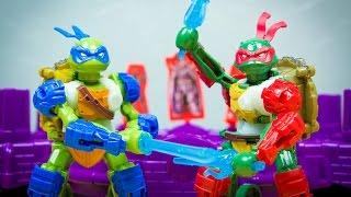 Battroborg Teenage Mutant Ninja Turtles Battle Game Leonardo vs Raphael