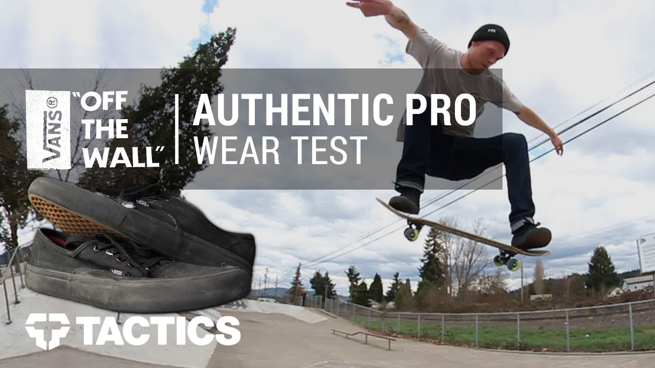 e335709b17f Vans Authentic Pro Skate Shoes Wear Test Review - Tactics.com - YouTube