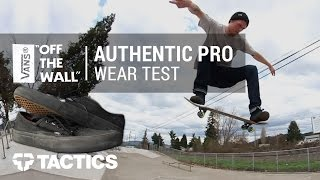 Vans Authentic Pro Skate Shoes Wear Test Review – Tactics.com