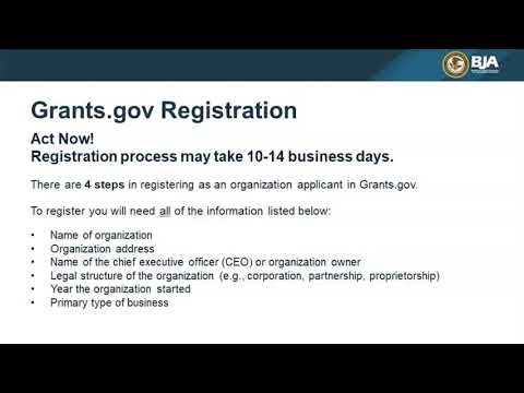 BJA Grant Application Education Series: The First Steps to Applying for BJA Funding, Prepare Now