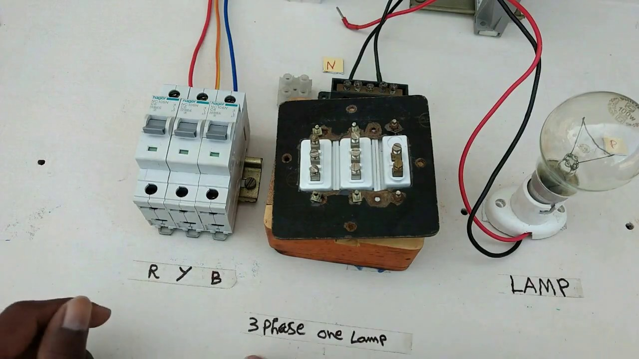 Three Phase Use One Lamp Tamil Indicator Star Delta Control Wiring Diagram