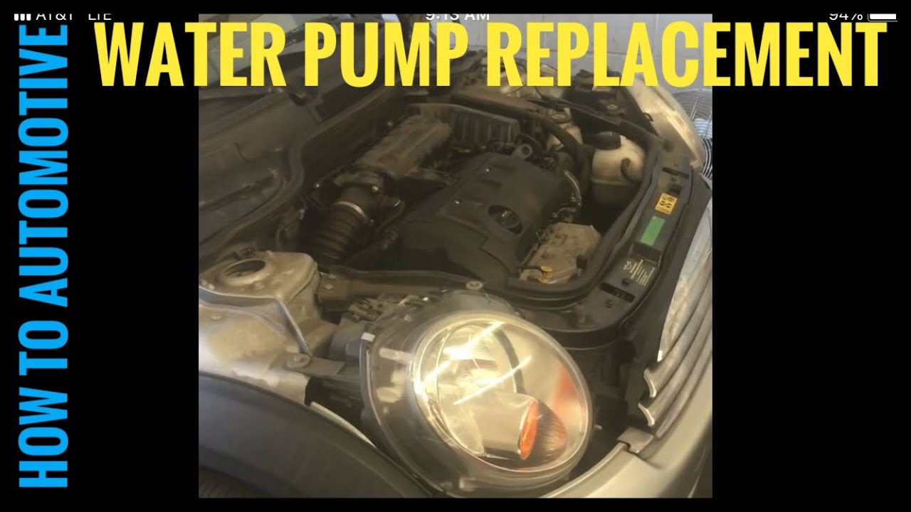How to Replace the Water Pump on a 2009 Mini Cooper N12