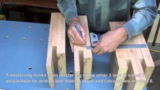 09 How To Build A Bed • Leg Joinery And Hardware Marking