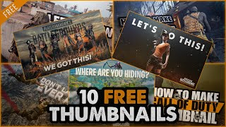10 FREE Gaming Thumbnails (Call of Duty, Fortnite...)