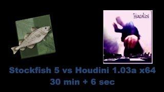 Stockfish 5 vs Houdini 1 03a x64, 30 min + 6 sec Computer Chess