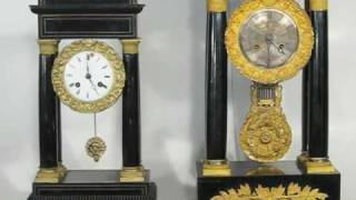 2 French Empire Clocks Striking