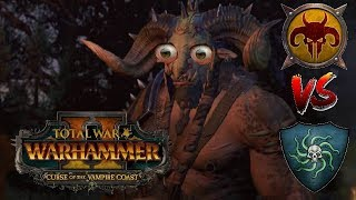 KHAZRAK\'S PENT UP RAGE - Beastmen vs Vampire Coast | Total War Warhammer 2