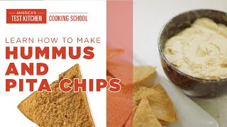 How to Make Hummus and Pita Chips with Christie Morrison