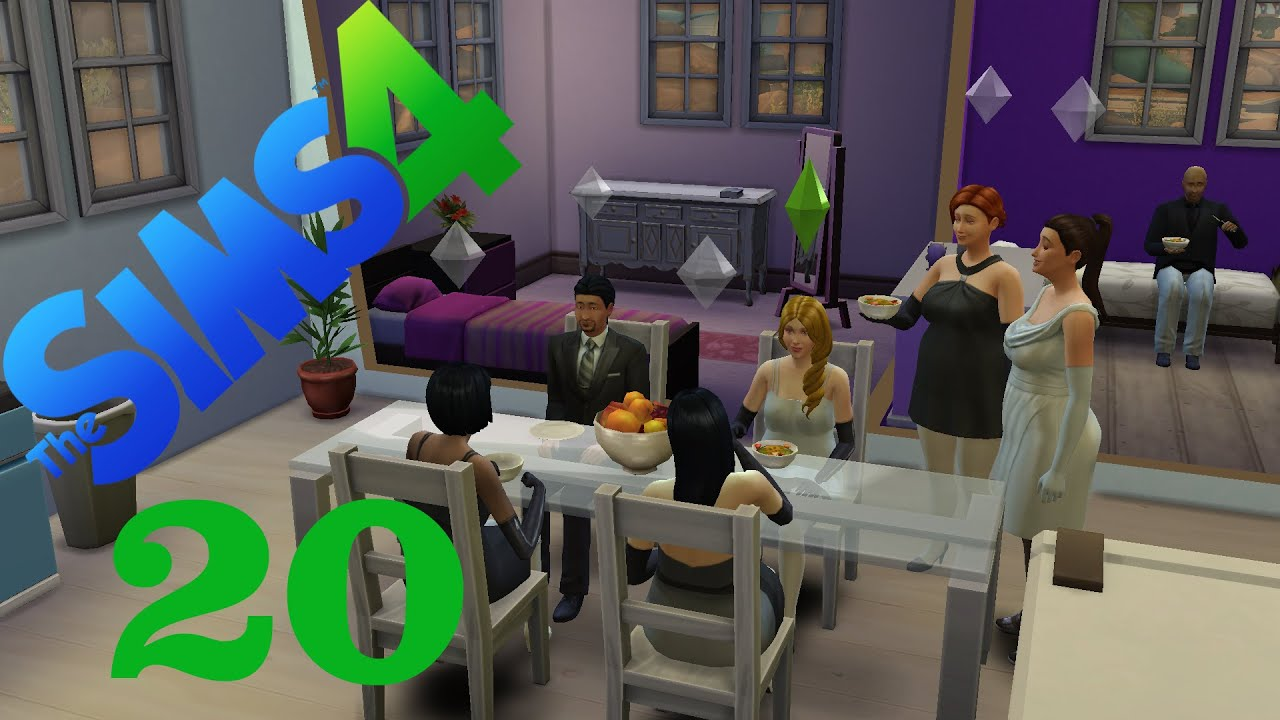 let 39 s play sims 4 20 schwarz wei party youtube. Black Bedroom Furniture Sets. Home Design Ideas