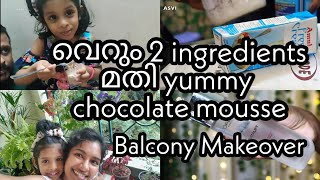 Random vlog|Trying out viral recipe|Only 2 ingredients|Balcony makeover|Skincare|Asvi Malayalam
